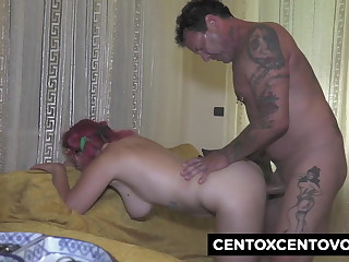 Parrot cock for the twenty year old Loretta with big boobs