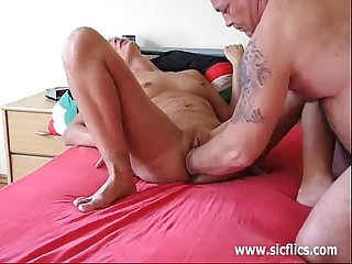 Gigantic fisting for housewifes unseal cut down on