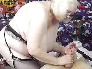 Granny weighty a best handjob