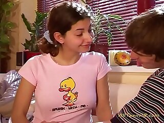 young legal teens - boy and girl solitary turned 18 years.mp4
