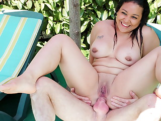 AmateurEuro - BBW Teen Natacha Has Anal Sex Wide of The Pool With Pater